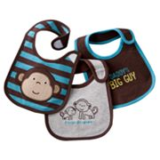 Carter's 3-pk. Solid and Striped Teething Bibs