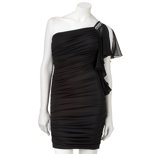 My Michelle Ruched Asymmetrical Dress $ 90.00