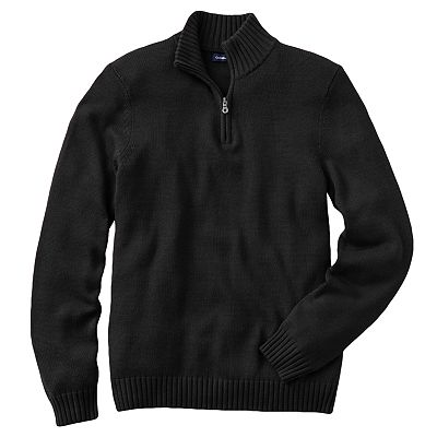 Croft and Barrow Solid 1/4-Zip Mockneck Sweater - Big and Tall