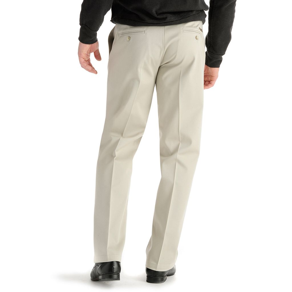 Men's Lee Custom Fit Straight-Fit Flat-Front Pants