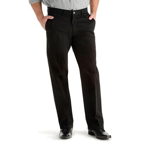 Lee Mens Comfort Waist Custom Straight Fit Flat Front Pant