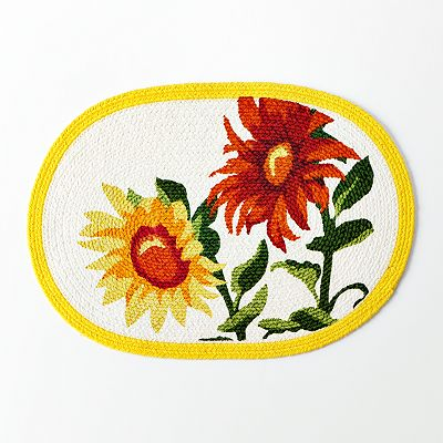 Croft and Barrow Sunflower Braided Placemat