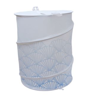 Elegant Home Fashions Shell Collapsible Laundry Hamper