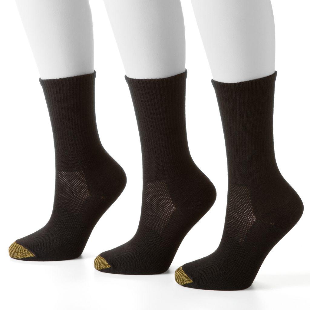 GOLDTOE 3-pk. Ultra Tec CoolMax Crew Socks