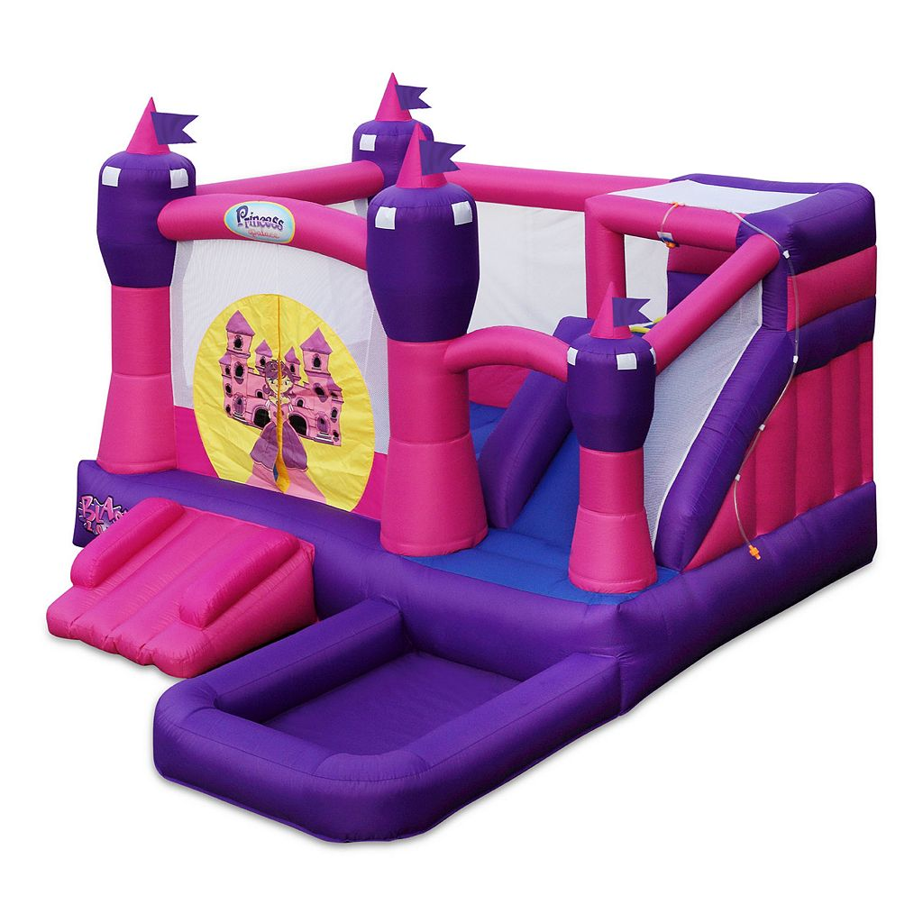 Blast Zone Princess Palace Combo Inflatable Bounce House