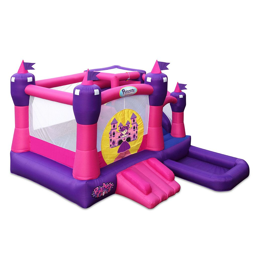 Blast Zone Princess Palace Combo Inflatable Bounce House