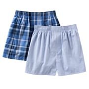 Croft and Barrow 2-pk. Plaid Woven Boxers