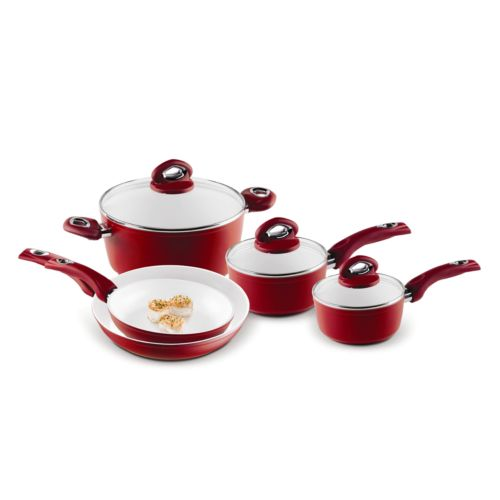 Bialetti Aeternum 8-pc. Ceramic Nonstick Cookware Set