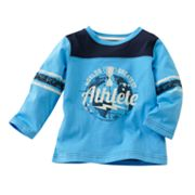 Jumping Beans Sporty Sleeve-Stripe Tee - Baby