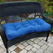 Solid Outdoor Settee Cushion