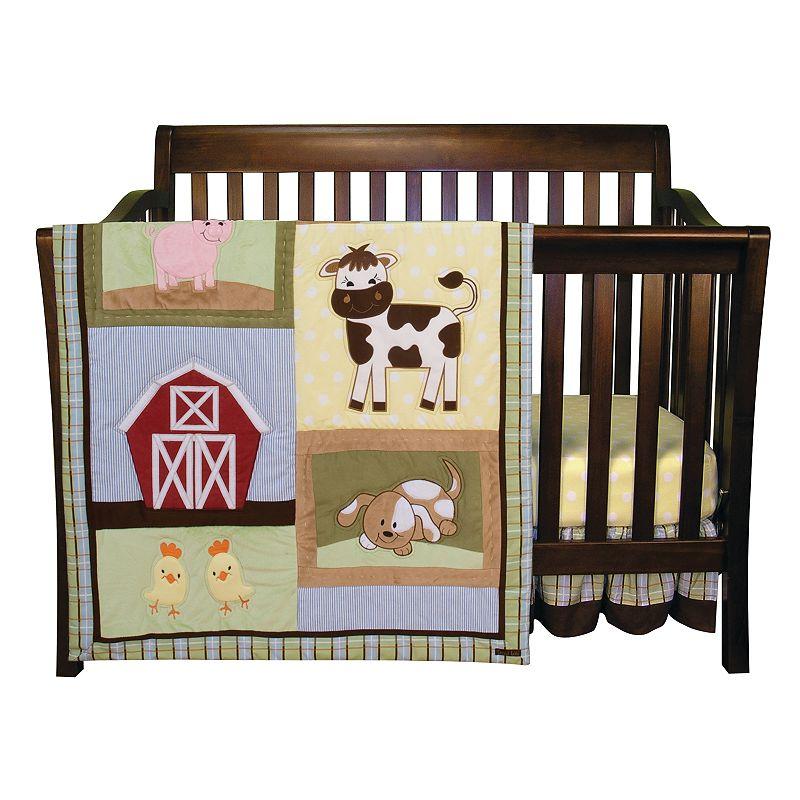 Trend Lab Baby Barnyard 3-pc. Crib Bedding Set, Brown/Green (Brown/Sage)