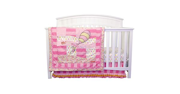 Dr Seuss Oh The Places You Ll Go Pink 3 Pc Crib Bedding