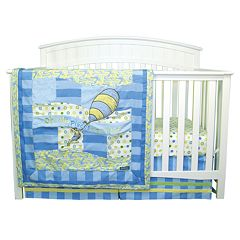 Dr. Seuss Oh The Places You'll Go! Blue 3 pc Crib Bedding Set by Trend Lab