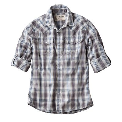 Urban Pipeline Plaid Western Shirt