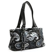 Donna Sharp Reese Paisley Quilted Satchel
