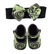 Baby Bella Maya Caramel Apple Swirl Booties and Headband Set - Baby