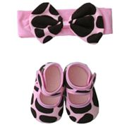 Baby Bella Maya Ginny Giraffe Booties and Headband Set - Baby
