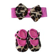 Baby Bella Maya Lollipop Leopard Booties and Headband Set - Baby
