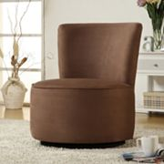 HomeVance Solid Swivel Accent Chair