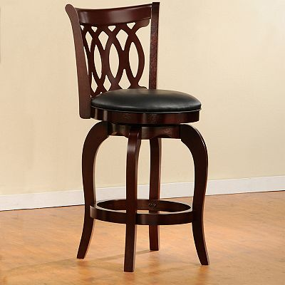 HomeVance Scroll Back Swivel Pub Chair