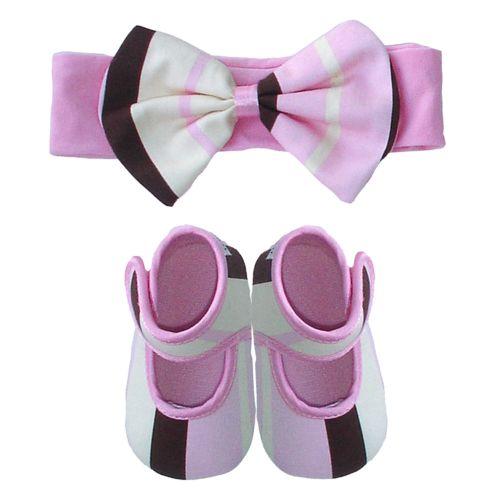 Baby Bella Maya Pixie Stix Striped Booties and Headband Set - Baby