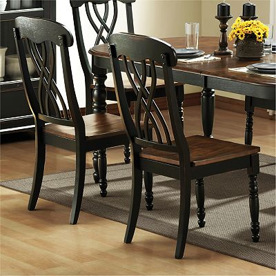 HomeVance 2-pc. Casual Countryside Dining Chair Set