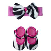 Baby Bella Maya Zoe Zebra Booties and Headband Set - Baby