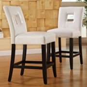 HomeVance 2-pc. Square Back Counter Chair Set