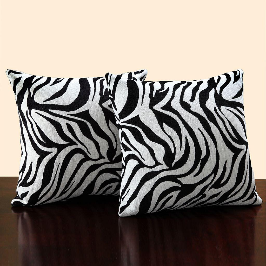 HomeVance 2-pc. Zebra Throw Pillow Set