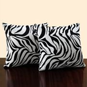 HomeVance 2-pc. Zebra Throw Pillow Set