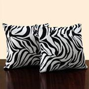 HomeVance 2 pc Zebra Throw Pillow Set