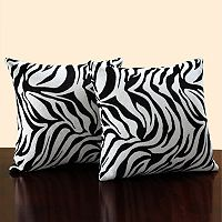 HomeVance 2 pc Zebra Throw Pillow Set