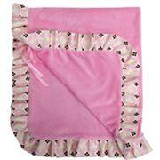 Baby Bella Maya Sugar and Spice Plush Stroller Blanket