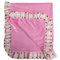 Baby Bella Maya Sugar & Spice Plush Stroller Blanket