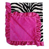 Baby Bella Maya Zoe Zebra Plush Stroller Blanket