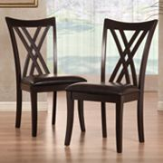 HomeVance 2-pc. Cross Back Chair Set