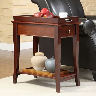 HomeVance Tray Top End Table