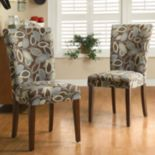 HomeVance 2-pc. Parsons Leaf Dining Chair Set