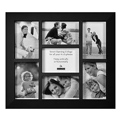Malden Berkley Sticks Black 7-Opening 4' x 6' Collage Frame