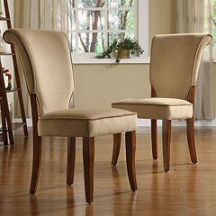 HomeVance 2 pc Velvet Side Chair Set