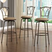 HomeVance 3-pc. X-Back Swivel Bar Stool Set