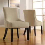 HomeVance 2-pc. Linen Chair Set