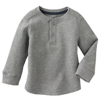Jumping Beans Solid Thermal Henley - Baby