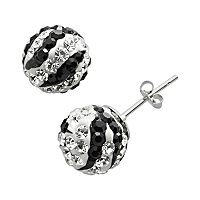 Renaissance Collection 10k White Gold Crystal Stud Earrings - Made with Swarovski Zirconia
