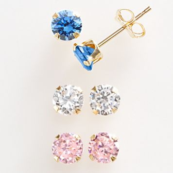 Renaissance Collection 10k Gold 1 1/2-ct. T.W. Stud Earring Set - Made with Swarovski Zirconia