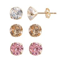 Renaissance Collection 10k Gold 5 2/5 ctT.W. Stud Earring Set - Made with Swarovski Zirconia