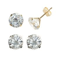 Renaissance Collection Two Tone 6 ctT.W. Stud Earring Set - Made with Swarovski Zirconia