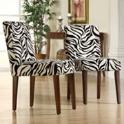 HomeVance 2-pc. Zebra Dining Chair Set