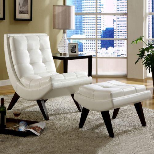 HomeVance Chair and Ottoman Set