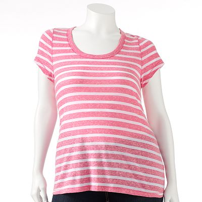 SO Snownap Striped Tee - Juniors' Plus